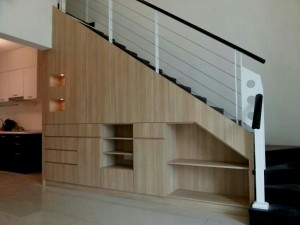 staircase-tv cabinet